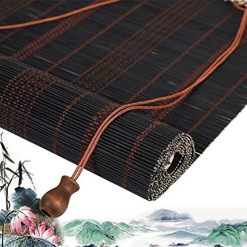 Bamboe Rolgordijn Rolgordijn Bamboe Romeinse Rolgordijnen Rolgordijnen Houten Rolgordijn - Gordijn Met Volant Zonwering Eenvoudige Installatie Meerdere Grootte Aanpasbaar  (Maat: 60X160CM)