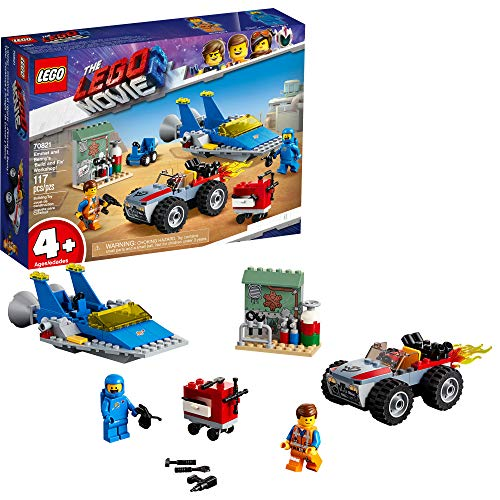 LEGO THE LEGO MOVIE 2 Emmet and Benny?s ?Build and Fix? Workshop; 70821 Action Car and Spaceship Play Transportation Building Kit for Kids (117 Pieces)