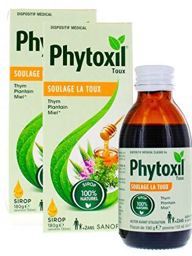 Sanofi Phytoxil Sirop Thym Plantain Miel - Lot de 2 flacons 133ml