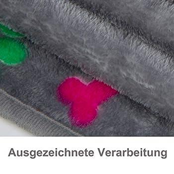 ALLISANDRO Couverture Plaids de Chien/Chat (80x 60cm) en Polaire Lavable, Chaude et Confortable, Entretien Facile à la Machine, Gris