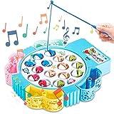 HCHENG Juego de Pesca de Mesa Juguete Musical Educativo Peces...