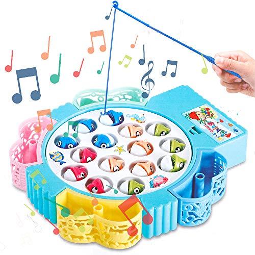 HCHENG Juego de Pesca de Mesa Juguete Musical Educativo Pece