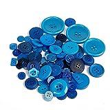 URNOFHW Harz dunkelblau Knopf 50g (ca. 50-100 stücke) Zufällige gemischte Nähtasten für handgemachte Babykleidung Dekoration DIY Scrapbooking