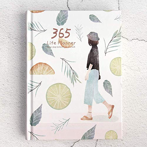 365 Planner Diary Monthly Life Planner To Hit Your Goals Live Happier, Habit Tracker, Self Reflections,Travelers Notebook,for Men Women Students Stationery Gifts