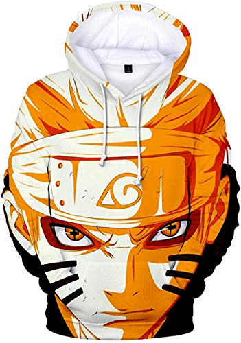 JIUMOO Naruto Akatsuki Sudadera con Capucha y Nube, Manga Larga, para Disfraz de Bombero Uchiha Itachi, Tallas S-5XL - Multi Color - Medium