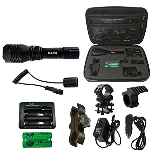 Elusive Wildlife The Kill Light XLR250 Gun Mounted Hunting Light, Red, Single Mode, On/Off Switch