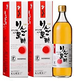 【2本】 坂元のくろず 天寿りんご黒酢 700mlx2本 4905391080166
