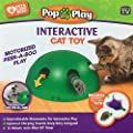 Ysimee Interactive Motion Peek a Boo Cat Toy, Electronic Smart Random Moving Feather Entertainment Pet Exercise Chase Toy, Teaser Mouse Squeak Sound Optional Auto Shut Off Cat Mouse Training Toy Green
