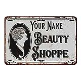 No Branded Letrero personalizado de la tienda de la belleza de la muestra del metal de la decoración de la pared de la lata de la