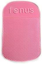 Pink Car Dash-board Mat Non-Slip Sticky Holder Mount Dash Phone Grip Hold for Straight Talk LG Power - Straight Talk LG Premier LTE - Straight Talk LG Rebel LTE - Straight Talk LG Sunrise