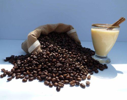 Café con sabor a ponche de huevo en granos, 100 gramos
