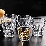 GLANGYU Kreativ 6PCS 100ml Schnapsglas Ausgeglichenes Material Durchsichtiges Glas Cups for Alkohol Und Spirituosen Wein Cup Bar Club Party Trinkgefäße (Capacity : 100ml)