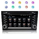 Stereo Home Autoradio stéréo Android 9 pour Audi A4 Lecteur DVD Radio 7' Écran Tactile HD Navigation GPS avec Bluetooth WiFi Commande au Volant 2 GB + 32 GB (Audi A4)