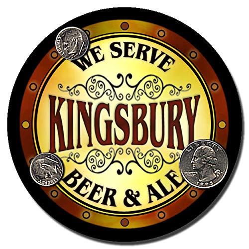 ZuWEE Kingsbury Beer & Ale Personalized Neoprene Rubber Drink Coasters