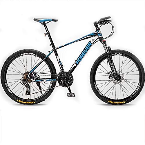 24/26/27,2 Pulgadas Bicicleta De Montaña 24/27 Velocidad Suspension Delantera Bicicleta Montaña MTB para Hombres/Mujeres,Black Blue,27.5In 24Speed