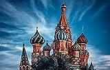 FAWFAW Puzzle De 1000 Piezas, Catedral De San Basilio, Castillo De Moscú Gran Puzzle De Madera 75X50Cm