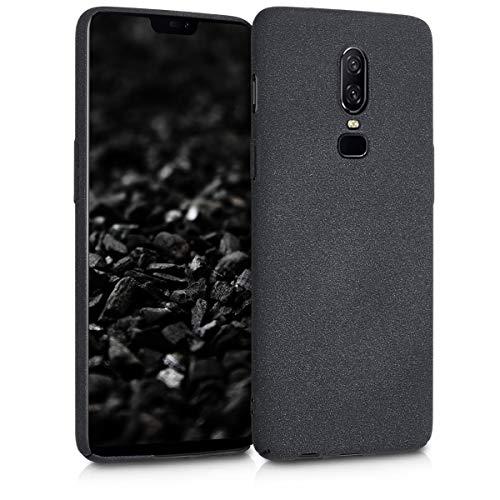kwmobile Hülle kompatibel mit OnePlus 6 - Handy Hülle Handyhülle - Anti-Rutsch Backcover Hardcover Cover Schutzhülle Schwarz matt