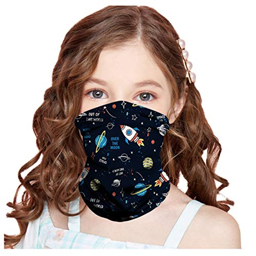 1 PC Summer Cooling Kids Face Scarf Mask-Dust Bandana Neck Gaiter Multifunction Headband Boy Girl Balaclava Outdoors Dustproof Lightweight (A03, KID)