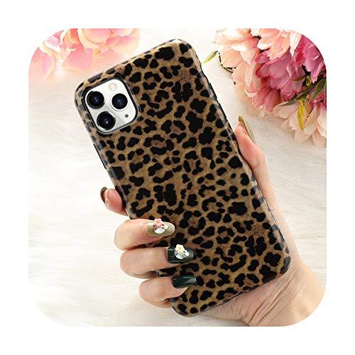 Hopereo Funda de teléfono con estampado de leopardo para iPhone 11 11Pro Max Xs Max Xr X Se 2020 8 7 Plus lujo suave trasera casos moda Shell-E-Para Iphone Se 2020