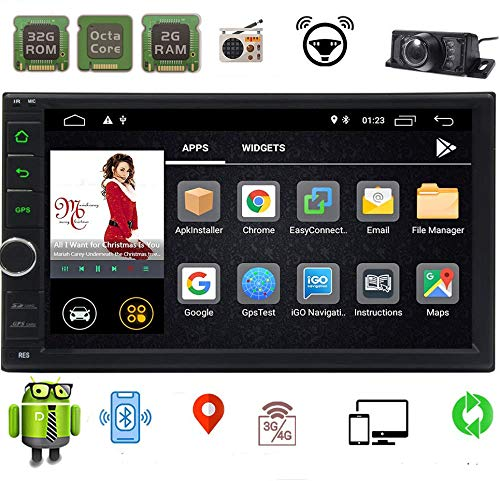 Android Double Din Car Stereo EINCAR 7 Inch Car Radio Octa Core 2GB RAM 32GB ROM in Dash 2 Din Car Radio Video Player with Bluetooth WiFi SWC Mirror Link GPS Navigation System Wireless Rear Camera