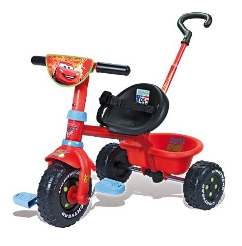 Smoby - A1102122 - Vélo et Véhicule pour Enfants - Porteur et Tricycle - Be Fun - Cars 2