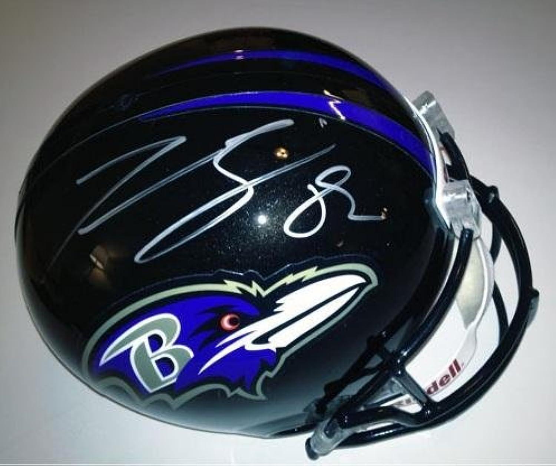 Signed Torrey Smith HelmetFull SizeAutographed NFL Helmets