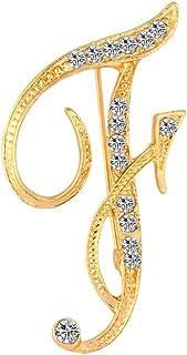 CHUYUN Gold Alloy 26 Alphabet English Letters Crystal...