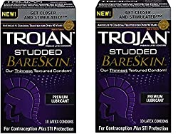 small Lubricant for bare skin with thorns, 2 boxes (10 condoms)