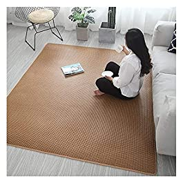 CAICAI Style Japonais Fibre Naturelle Rotin Zone Carpette Épais Polyvalent Été Matelas Tapis en Train De Dormir Tampon…