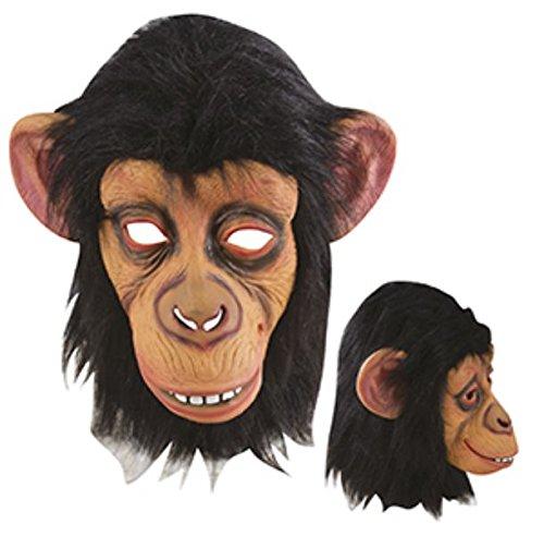 P'tit Clown- Déguisement-Masque Adulte Latex Intégral-Chimpanzé, Unisex, 11177, Taille Unique