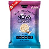 Gluten Free Popped Cassava Snack Grain Free Non GMO No Nut Low Calorie (Sea Salt, 1 Ounce ...