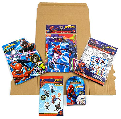 Licensed - Spider Man Bumper Multipack Pack | Activity Set for Kids Arts and Crafts | Includes Colouring Books and Pens