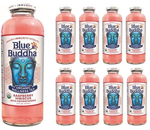 Blue Buddha Organic Wellness Tea, Raspberry Hibiscus Organic (Pack of 8)