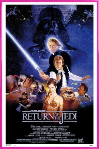 1art1 Star Wars Póster con Marco (Plástico) - Episodio Vi, El Retorno del Jedi, Cartel De Cine (91 x 61cm)