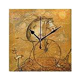 FAJRO Réveil carré en Forme de Vache sur Le vélo