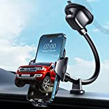 【Newest Shockproof】VANMASS Windshield Phone Mount【360° Widest View】Universal Suction Cup Cell Phone Holder for Dashboard Window Dash, Handsfree 9in Flexible Gooseneck Compatible for iPhone 13 & Truck