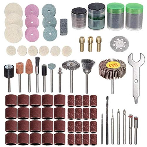 For Sale! Multitool Sanding Kits 200pcs Polishing Kit for Dremel Rotary Tool Accessories for Sanding...