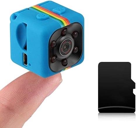 Lovearn Mini Camera Sq11 Camcorder Hd 1080p Camcorder Sport Mini Dv Videorecorder Spion Kameras Mit Nachtsicht Und Bewegungserkennung Überwachungskamera Blue Küche Haushalt
