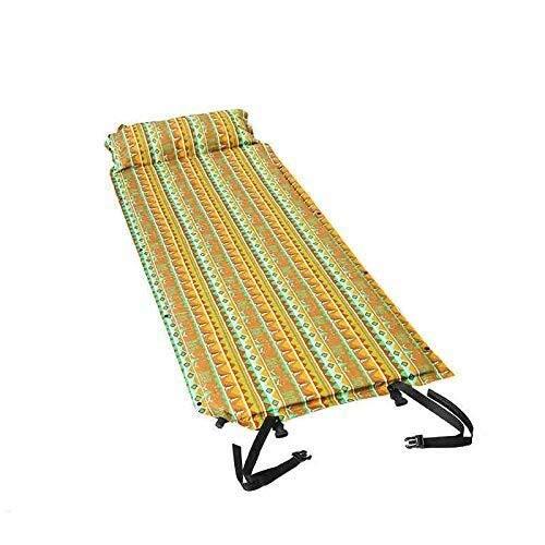 Sac de couchage Tapis de Camping en Plein air Coussin de Matelas Gonflable, Matelas Remplissage Rapide de l'humidité de l'air de Camping Tapis de Sol Oreiller Confortable, Couleur: Deux