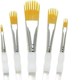 Aqualon RAQUA-201 Royal and Langnickel Wisp Short Handle Paint Brush Set, Filbert, 5-Piece