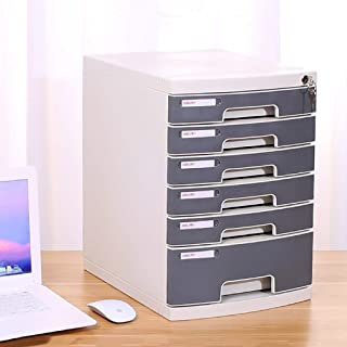 File cabinets Flat Flat Flat File Desktop Storage Box Furniture Archive Cabinet 6/7 Drawers, With Lock High Capacity Can S...