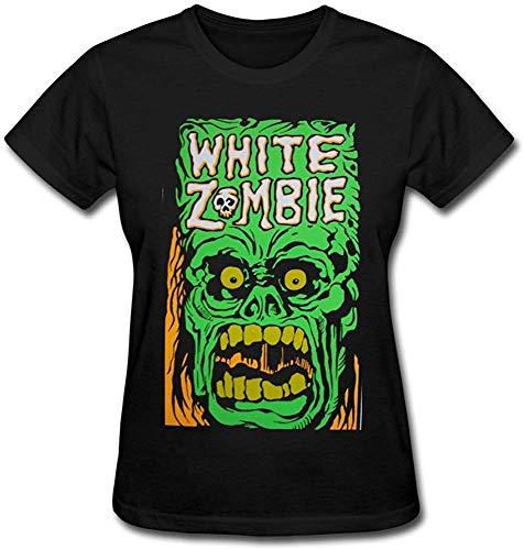 Women's White Zombie Summer T-Shirt Short Sleeve