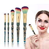 5PCS / Set Kit de pinceles de maquillaje, corrector de base de cejas Sombra de ojos Highlight Cosmetic Brush Face Kit de pinceles de sombra de ojos Professional Makeup Brushes Foundation