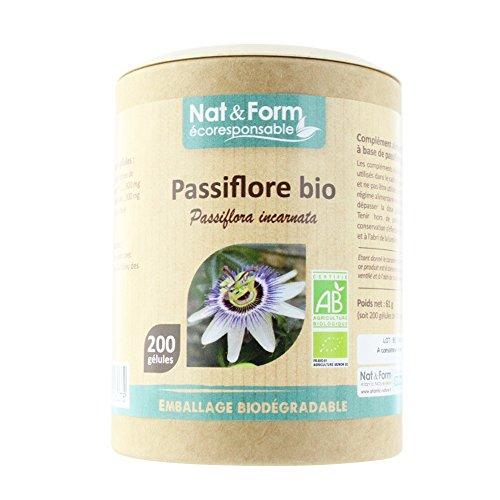 Nat & Form - Passiflore Bio 200 Gelules Detente Nat&form