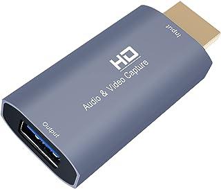 Ronyme Placas de captura de áudio e vídeo 4K HDMI para USB 1080p Ensino de jogos Vídeo conferência Transmissão ao vivo