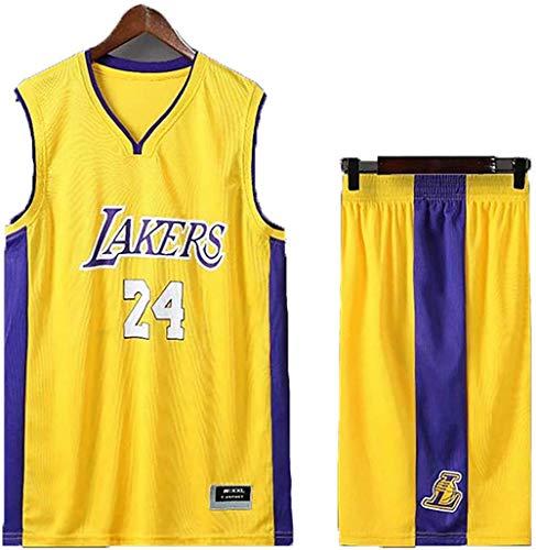 BBJOZ Uniformes retro de baloncesto para Lakers #24 Kb baloncesto camisetas de verano de fanático camisa chaleco sin mangas ropa deportiva transpirable uniforme deportivo Swingman-5XL_amarillo