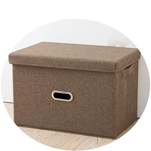 QNN Caja de Alenamiento Plegable de Algodón Y Lino. Caja de Alenamiento de Cajones Caja de Alenamiento de Tela Caja de Alenamiento Japonesa Bolsa de Alenamiento de Embalaje Libros/Café