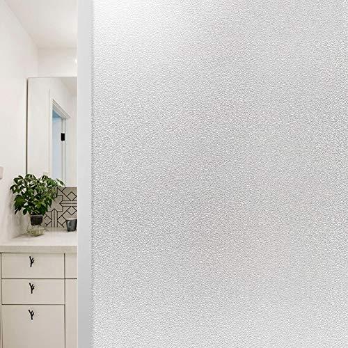 TopJistatische hechting melkglas raamfolie, zelfklevend privacy folie zonder lijm decoratie anti-uv, voor badkamer keuken thuis 70x100cm(27.6x39.4inch) melkglas