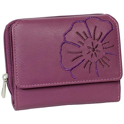 Branco Leder Geldbörse Portemonnaie Damenbörse Damen Geldbeutel Berry - sehr hochwertig
