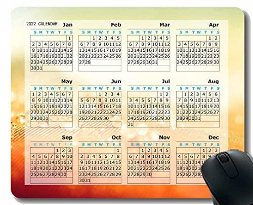Gaming Mouse Pad 2022 Año Calendario con Vacaciones, Droplet Superficie Luz Cuaderno de Escritorio Alfombrilla de ratón para Trabajar y Juegos